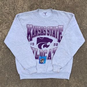 Vintage 98' Kansas State Wildcats Crewneck Sweater